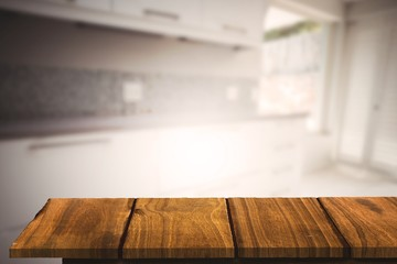 Composite image of wooden floor