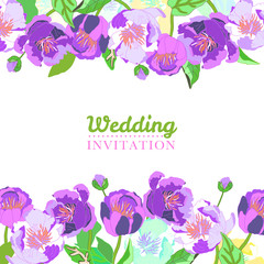 Elegant floral collection with isolated flowers, hand drawn. Design for weeding, invitation.