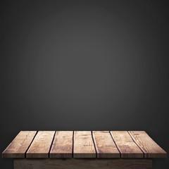 Composite image of wooden floor