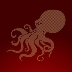 Octopus designed using dots pattern graphic vector.