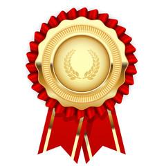 Blank award template - rosette with golden medal
