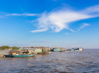 The village on the water. Tonle sap lake in Cambodia