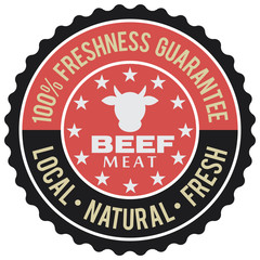 beef meat label