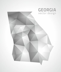 Georgia gray polygonal map