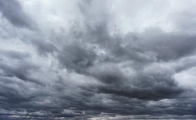 Cloudy sky, close storm