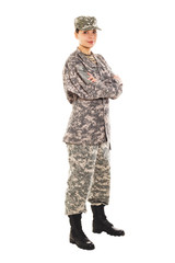 Soldier in the military uniform