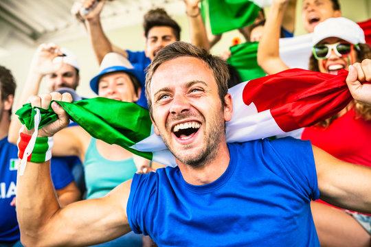 Italian Fans at the Stadium