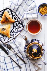 Uzbek national dish samosa