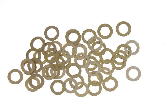 seals , gaskets and O-rings  isolated on white