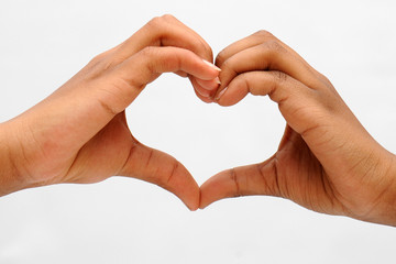 Two Hands Forming Hearts