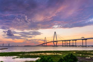 Poster Bridge Ravenel Bridge in Charleston