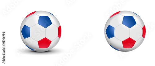 02525936b7bc5 Ballon de foot tricolore - Bleu Blanc Rouge