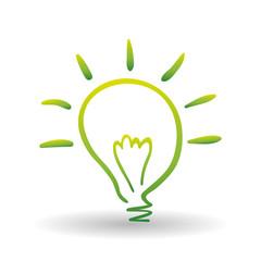 Vector illustration of Think green , editable icon