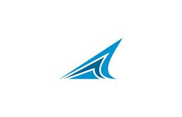 shark fin triange logo