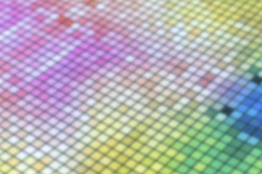 Blur of mosaic pattern