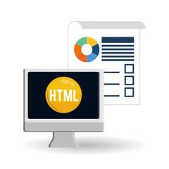 responsive web design over white background, vector illustration