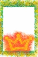 Bild Rahmen mit Krone für Botschaft Liebesbotschaft Mutmacher