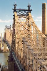 View of the Queensboro Bridge in New York City.
