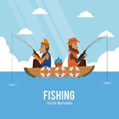 Fishing graphic design