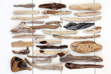 Driftwood Abstract Wall mural