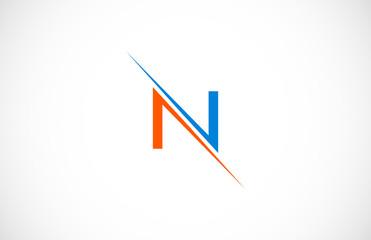 line letter N logo