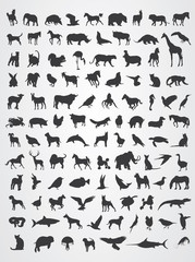 Animals Silhouette Pack Vector.