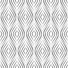 Seamless vector pattern. Geometric black and white background.