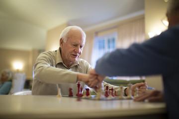 Older men playing chess