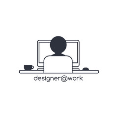 designer programmer computer theme