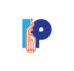 ip logotype simple tech