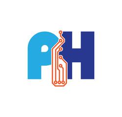 ph logotype simple tech