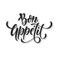 Estores personalizados para cocina con tu foto Bon Appetit text. Vector calligraphy.