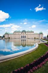 Foto auf AluDibond Wien landmark Belvedere is a historic building complex in Vienna Aust