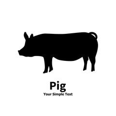 Vector illustration pet pig