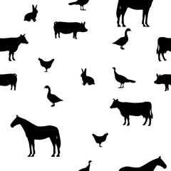 Vector illustration seamless pattern pets