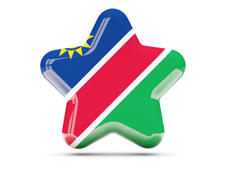 Star icon with flag of namibia