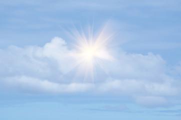 Sunlight among clouds, it is hopeful.