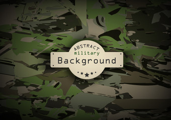 Camouflage military pattern background.