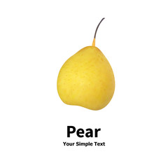 Isolated realistic pear