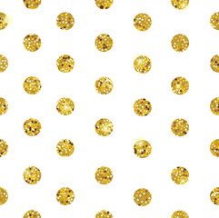 White pattern with gold dots vector