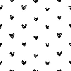 Hand draw heart pattern vector