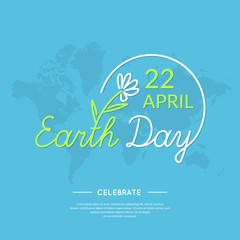 Linear Logo Earth Day.