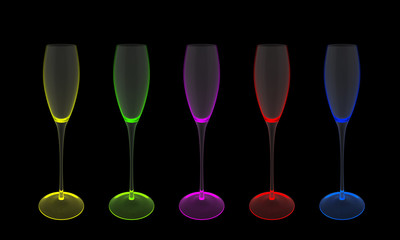 Wine Glasses Colored