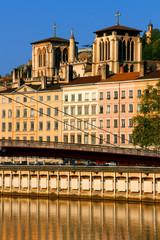 Altstadt von Lyon mit Türmen der Kathedrale Saint-Jean