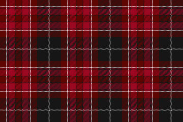 Pride of wales fabric textile red tartan seamless horizontal bac