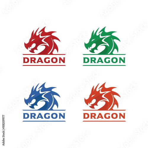 dragon head logo template dragon brand identity dragon logo vector
