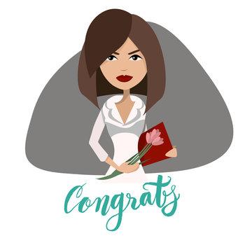 Secretaries day congratulations card design.