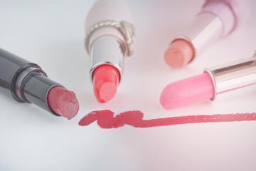 beauty background,pink filter vintage style lipsticks