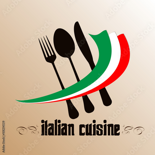 """Menu. Cover for restaurants and cafes Italian cuisine ..."