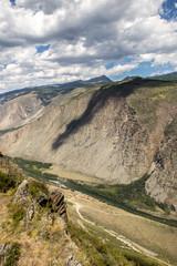 Breathtaking view from Katu-Jaryk Mountain pass, Altay republic, Russia.